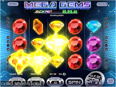 mega gems machine sous en ligne 3d avec jackpot progressif. Black Bedroom Furniture Sets. Home Design Ideas