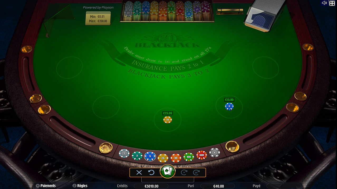 BLACKJACK CASINO EN LIGNE