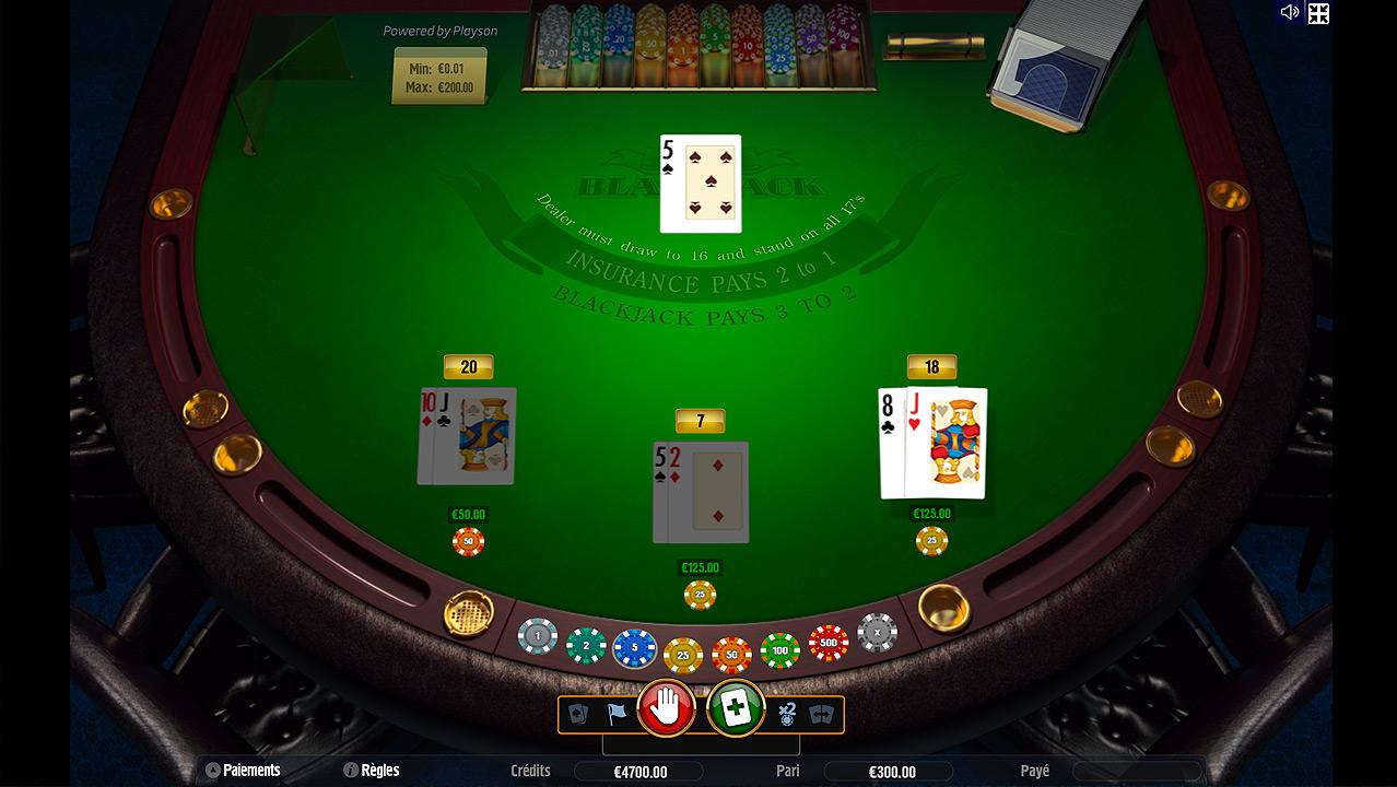 Jouez aux Pontoon Blackjack en Ligne sur Casino.com Suisse