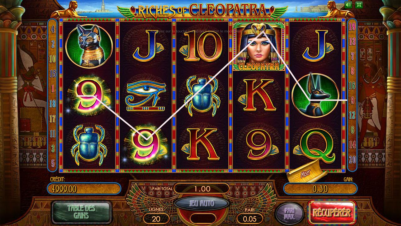 Machines a sous gratuites cleopatra