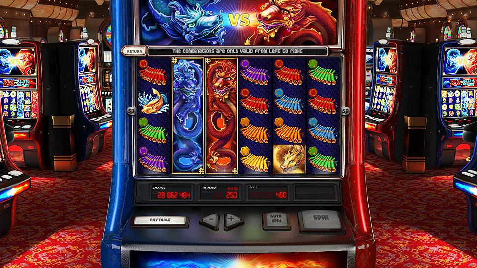 Red Dragon vs Blue Dragon Slot Machine