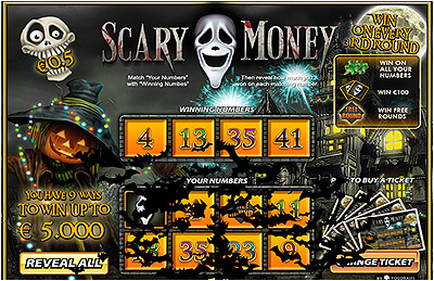Jeu de grattage en ligne Scary Money