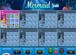 Jeux de grattage en ligne Mermaid Scratch