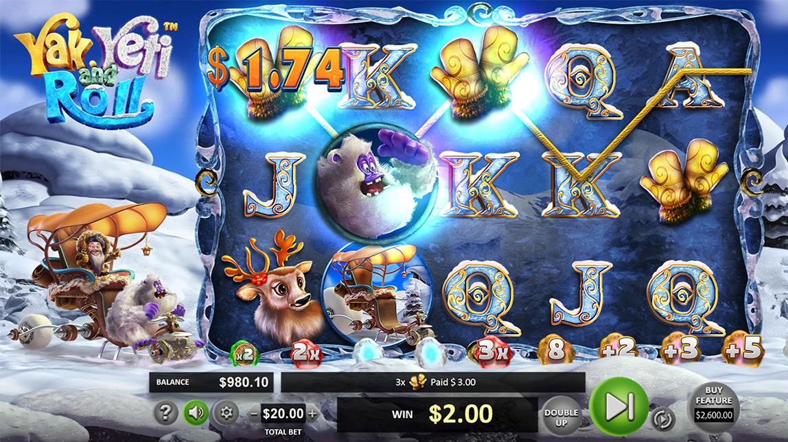 Yak, Yeti And Roll Slot Machine