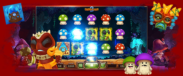 Machine à sous vidéo The Chibeasties 2 d'Yggdrasil Gaming