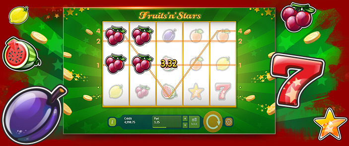 Jeux de casinos gratuits Fruits and Stars par Playson