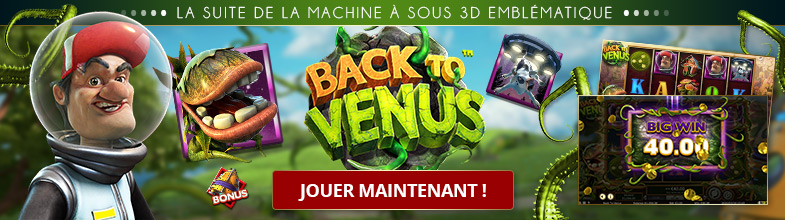 Machine à sous avec bonus Back to Venus