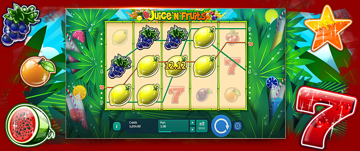 Slot machine gratuit Juice and Fruits par Playson
